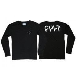 T-Shirts Memorandum Long Sleeve Black Large