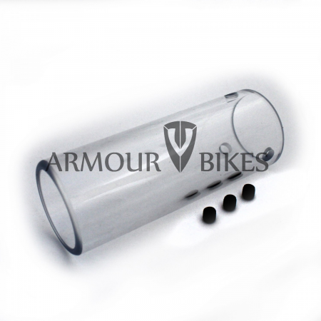 Armour bikes polycarbonate trans BMX peg sleeve