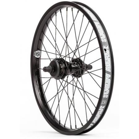 BSD Aero Pro West Coaster Freecoaster LHD Black BMX Rear Wheel