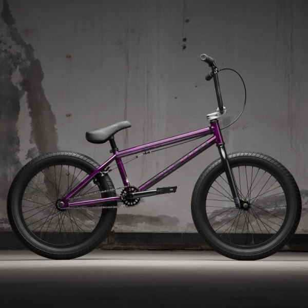 KINK Curb 2021 Gloss Smoked Fuschia BMX bike
