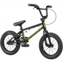 Wethepeople Riot 14 2021 Matt Black with White BMX Bike For Kids