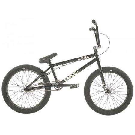 Division Blitzer 2021 19.25 Black with Polished BMX bike